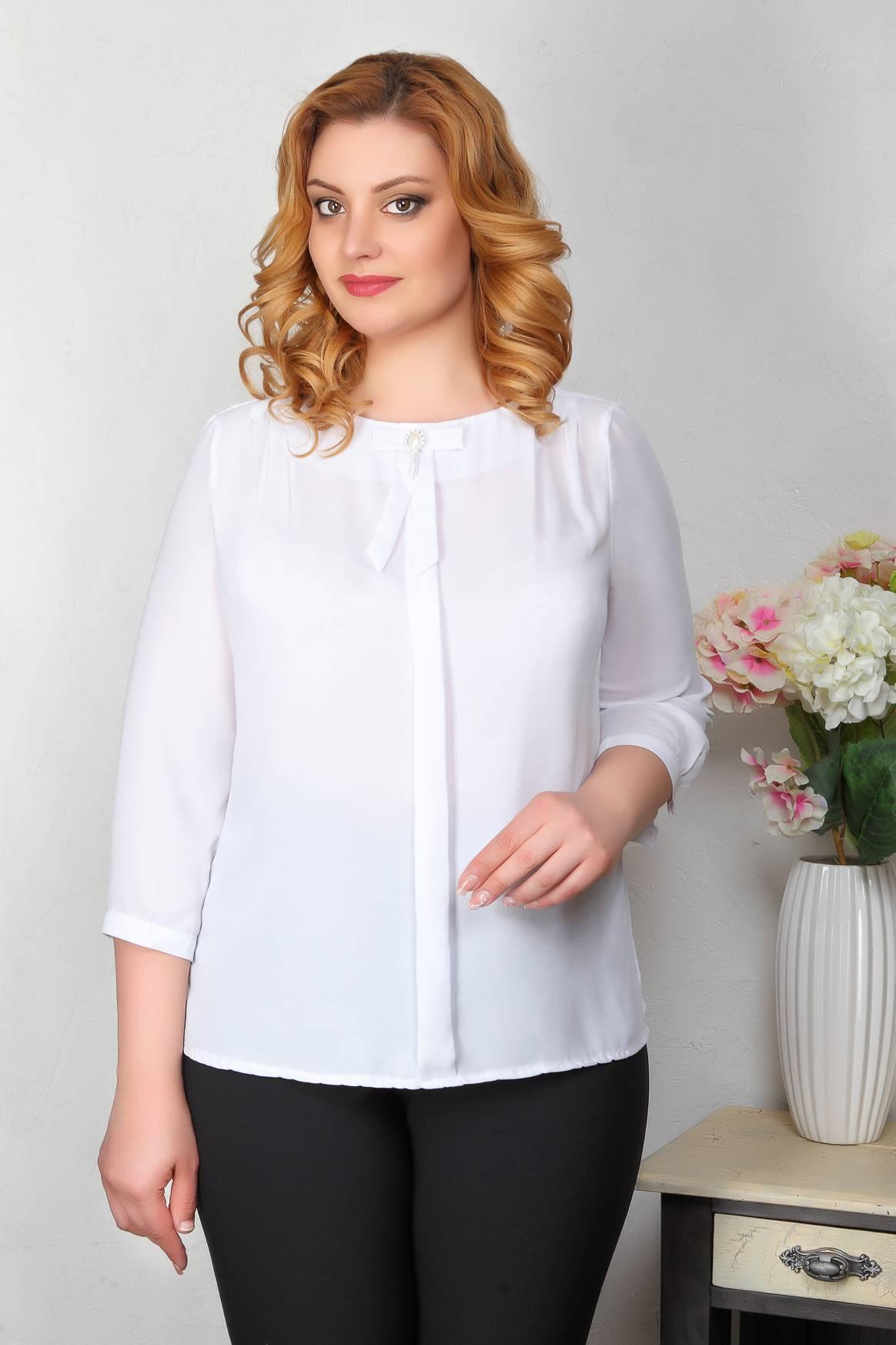 Блуза 215.930.1+брошь
